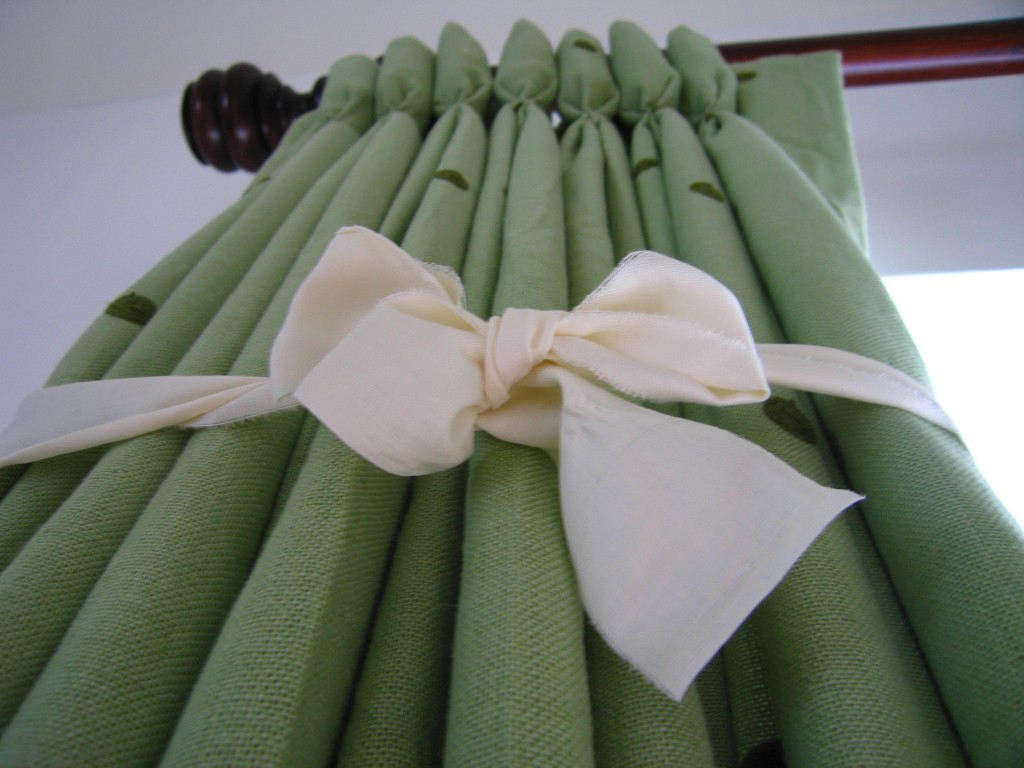 Dress your Curtains after Hanging