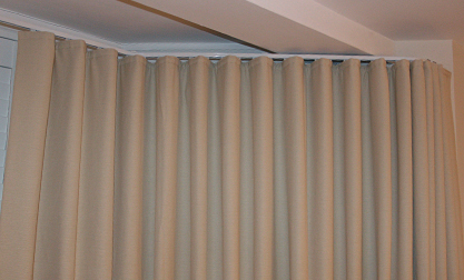 Bay window curtain track fixed to ceiling of bay - The Ultimate Challenge Made To Measure Curtains For Bay