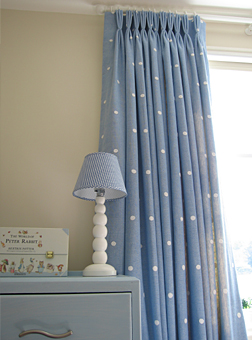 Moghul polka dot curtains made to measure