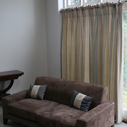 made to measure curtains with gathered headings using 145mm extra deep pencil pleat tape