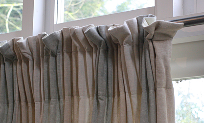 Gathered Curtains - extra deep pencil pleat tape