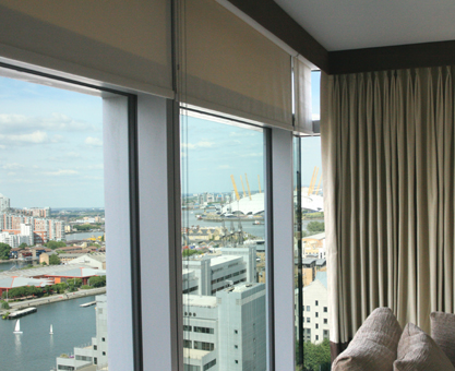 curtains and blinds for canary wharf style developments
