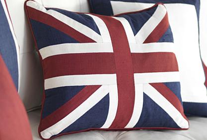 Moghul union jack cushion