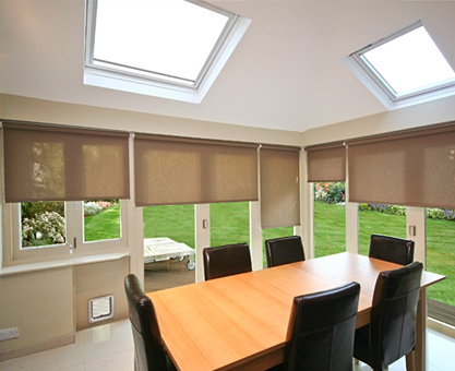 Moghul roller blinds for CEDAR bifold doors
