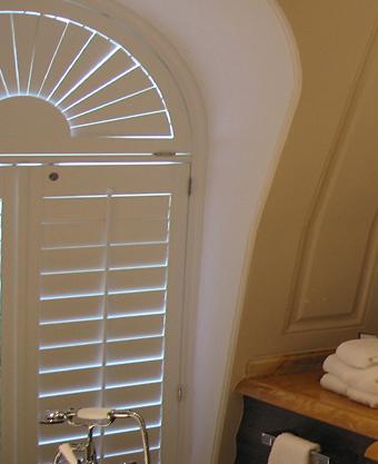 Light shining through closed shutters