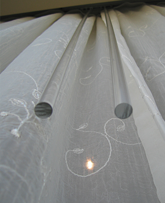 perspex draw rods for hand drawn curtains