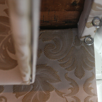moghul roman blind in damask fabric
