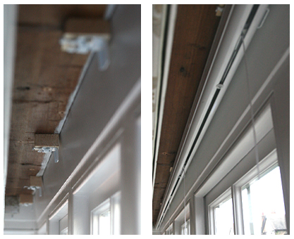 moghul chain operated roman blind headrail system for uneven ceilings