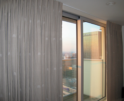 embroidered linen curtains canary wharf