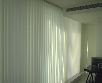 Vertical Blinds Moghul Interiors Canary Wharf Pan Peninsula Square apartment