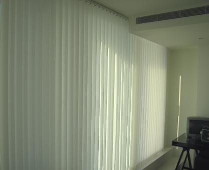 Vertical Blinds Moghul Interiors Canary Wharf Pan Peninsula Square apartment