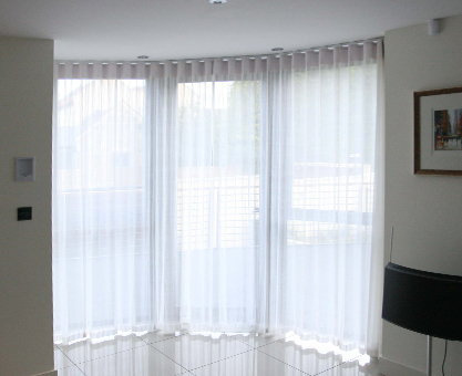 bay window sheer curtains from Moghul