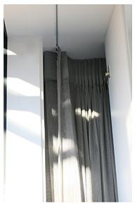 Sliding door curtain cupboard