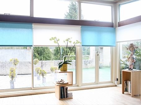 silent gliss 4910 roller blinds, from Moghul