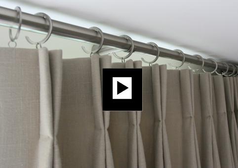 curtain poles bifold curtains