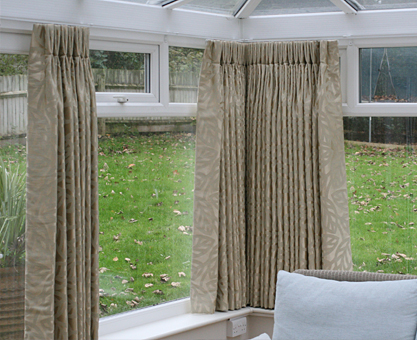 made to measure conservatory curtains double pinch pleat