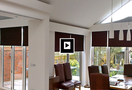 motorised roller blinds & duette blinds
