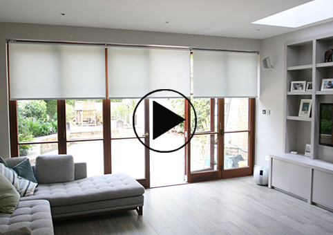 motorised somfy roller blinds south London