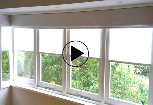 spring loaded slow rise roller blinds