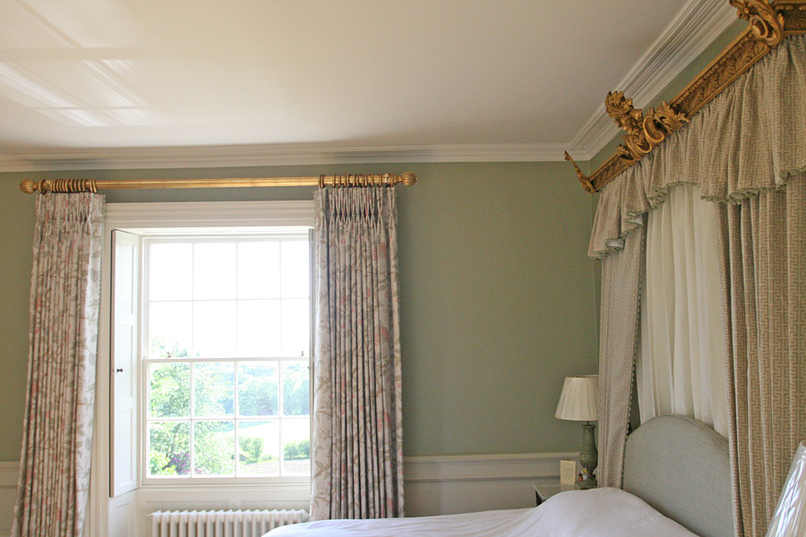 bed tester and gilded curtain pole