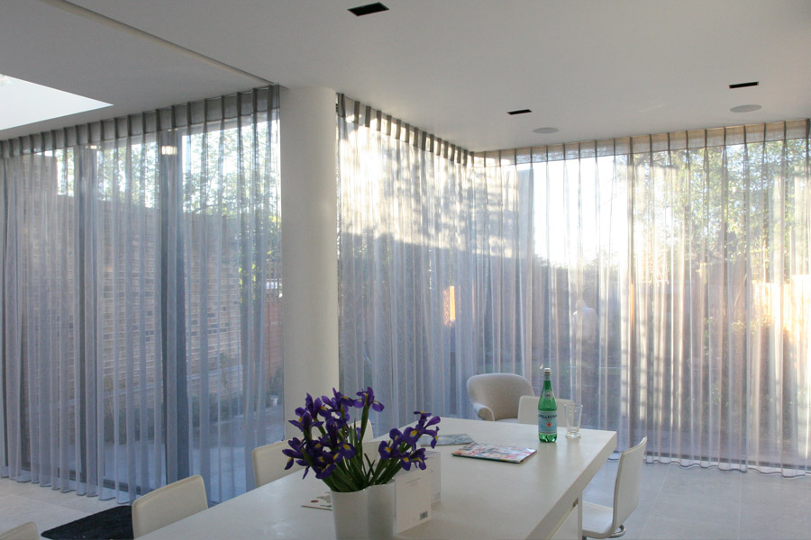 sheer kitchen curtains for sliding doors
