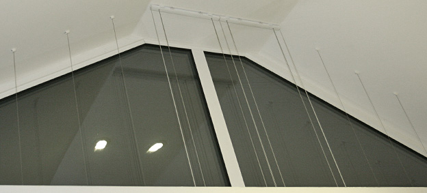 tensioning wires for triangular window somfy duette motorised blind
