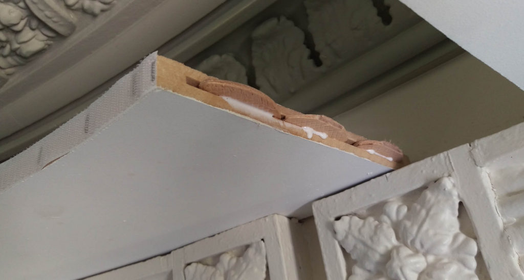 biscuit joint sections of mdf pelmet